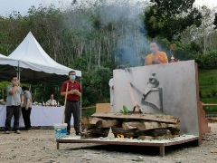 Highlights from the Shize Peaceful Fire Puja: Pastor David Lai & Frederick Law were also on hand to assist with the puja ritual substances. - shared by Pastor Antoinette