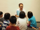 Teacher Kien from KSDS 7-8 years old class did a story sharing. Stella Cheang, KSDS