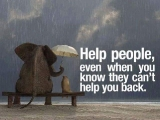 HELP PEOPLE, Even When You Know They Can't Help You Back .  YEO KWAI GIN ( KKSG )