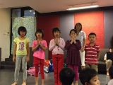 KSDS's elder students age 7-8 years old led the class to sing Migtsema mantra song. KSDS, Alice Tay