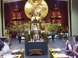 Five Pujas were performed yesterday in Wisdom Hall: Lama Chopa, Menlha, Sheningdundok, Druchuma and Dorje Shugden - shared by P. Antoinette