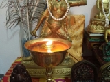 Self-made butter lamp offered to stunning Vajrayogini. P. Adeline