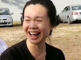"Karen Chong having a good laugh during the ""Laughing Yoga"" session. Lucy Yap"