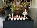 Nyamgyal Tsechog altar set up by Kechara Puja Team. Lucy Yap