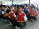 Meditation in progress. ( Enrichment Programme With A Differenceof at SJKC Lurch Bilut, Bentong).