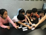 The students worked together to find the answer. Alice Tay, KSDS