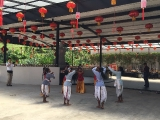 Performance by students from Bentong school during Grand Dorje Shugden Puja. Lin Mun KSDS