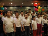 Group performance by Kechara Sunday Dharma School students during the Mid Autumn Charity Event. Stella Cheang
