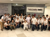 Group photo of all Kechara Sunday Dharma School volunteers after a successful Mid Autumn Festival Charity Event. Stella Cheang