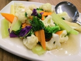 Stir fried Cambodian-style with lemon and mint leaves ~ kecharaoasis.com ~ Guat Hee