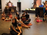 Kechara Sunday Dharma School students at Kechara Ghompa learning together. Stella Cheang