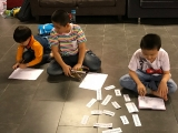 KSDS students have the opportunity to learn new words during the day care session. Alice Tay, KSDS