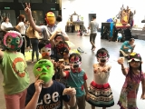 KSDS teachers guided the students to do own DIY Halloween masks. Alice Tay, KSDS