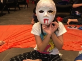 KSDS students age 7 and the above learned to do&paint their own mask. Alice Tay, KSDS
