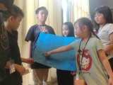 WOAH Camp 2017 - Zoey sharing her point on character strength i.e Teamwork , Lin Mun KSDS