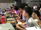 All participants are very excited to learn how to do Pizza. Alice Tay, KSDS
