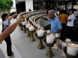 Holy site light offering in Kechara Forest Retreat, Bentong, Malaysia.