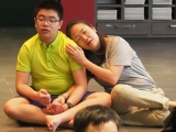 Student and teacher friendship, Teacher Grace and student Aaron , the 1st day KSDS orientation - Jayce Goh,KSDS