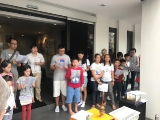 KSDS teachers, parents and children participated in the animal liberation conducted by pastor Han Nee.