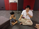 First time see Bryan can sit longer during the lesson.He is the youngest active boy in the class. Well done Bryan. By Asyley Chia KSDS