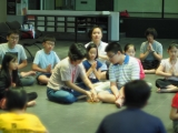 Kechara Sunday Dharma School started class with taking refuge. By Asyley Chia KSDS