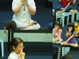 Teacher Alice teach breathing meditation to overcome anxiety. By Asyley Chia KSDS