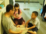 Breathing meditation is one of the methods to calm and peace our mind. This is good to learn at the young age. Alice Tay, KSDS
