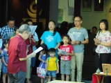 Pastor Han Nee led the KSDS students and parents for the prayers during animal liberation session. Alice Tay, KSDS