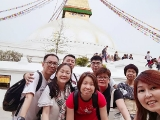Kechara Sunday Dharma School volunteer teacher Pilgrimage trip 2018 at Boudhanath Stupa By Asyley Chia KSDS
