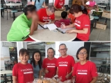 "Surplus food distribution to needy families. Food that has less ""commercial appeal"" becomes precious items for those who struggle to put food onto their dining table. Thank you to Tesco and all volunteers for making a difference to the community!!! Vivian @ Kechara Soup Kitchen"