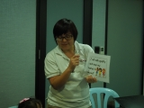 Teacher Alice share the guidelines and lay out the class rules before start of lesson. Lin Mun