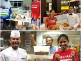 More pictures of the surplus food collected from hotels and restaurants to be redistributed to the needy. Vivian @ Kechara Soup Kitchen