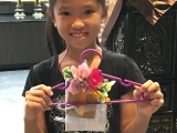 Tara is managed to complete her creative artwork with the guidance of Teacher Kien. Alice Tay, KSDS