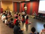 Teacher Kien shared interesting story with the children groups from age 7 and above. Alice Tay, KSDS