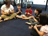 Lovely kids, learning to chant at very young age. Lin Mun KSDS