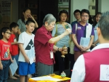 Pastor Han Nee led KSDS students, parents and others for animal liberation in Kechara House. Alice Tay, KSDS