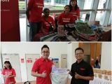 Grateful to Kloth Malaysia and Sime Darby Initiative Programme for the invite to The Fabric Recycling Launch by HH Tengku Zatasha. Justin is beaming to have met En. Zaki as they mutually found solutions to each others problems. Finer details to be worked out on a later date. - Vivian @ Kechara Soup Kitchen