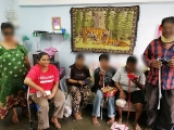 Rug weaving session in PPR Sri Kelantan to help the urban poor to supplement their income. Jaya is assisting at this session. She will be leading the group henceforth. How much they earn depends a lot on their determination to change their lives. - Vivian @ Kechara Soup Kitchen