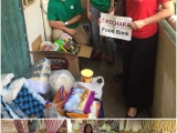 Thank you to staffs from Motorola Solutions for helping to deliver basic groceries to some needy families. - Vivian @ Kechara Soup Kitchen