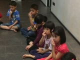 Breathing meditation is taught in the class to help the students to focus and calm their mind. Alice Tay, KSDS