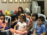 The kids are requested to pay attention to the video so that they can answer the questions after that. Alice Tay, KSDS