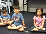 Full lotus sit..Well done children.by Asyley Chia KSDS