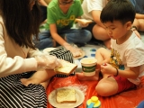"Throw back yesterday activity ""Sandwiches making"" lead by Teacher Grace.We start with egg peeling, smacking egg then spread on top of the bread, All the children are so exciting and enjoy so much!!!By Asyley Chia KSDS"