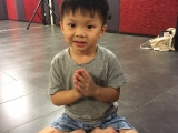 Karlson is very cute & smart. He can do lotus seat easily. Lin Mun KSDS