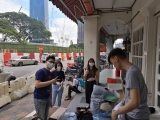 Other volunteers doing recycling at KSK Imbi are from left to right, Ethan Lua, Yi Qin, Jamie Chan and Legan Tju ~ Max