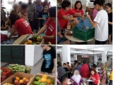 Surplus food were distributed to 30 needy families staying around Jalan Sungai. Thank you to all volunteers ! - Vivian @ Kechara Soup Kitchen