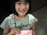 Charmaine showing her masterpiece DIY plastercine. So cute.  Lin Mun KSDS