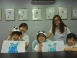 The young kids of KSDS have completed and showing their artworks happily. Alice Tay, KSDS