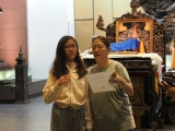 Both mother and daughter are active is Dharma School and the activities. Lin Mun KSDS