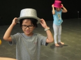 Children love this colourful hat. Lin Mun KSDS